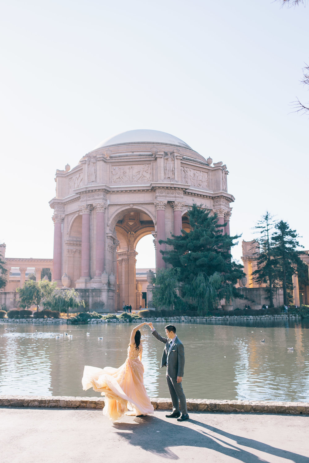 Best Engagement Photo Locations in San Francisco - Palace of Fine Arts Engagement Photos by JBJ Pictures (11).jpg