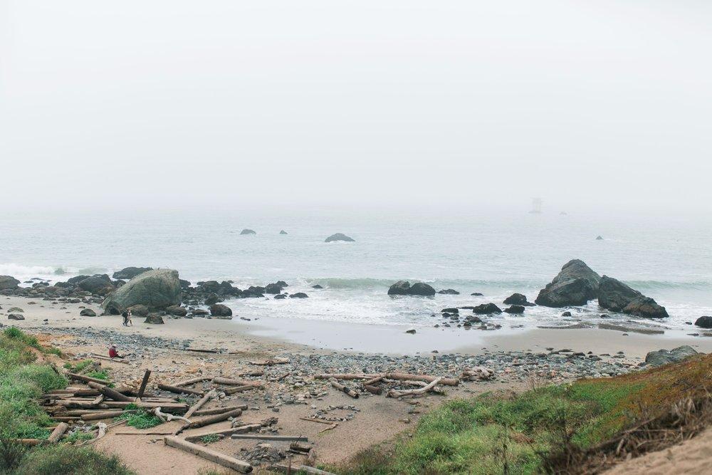 Mile Rock Beach Engagement Session - San Francisco Wedding Photographer - Foggy Engagement Photos SF (2).jpg
