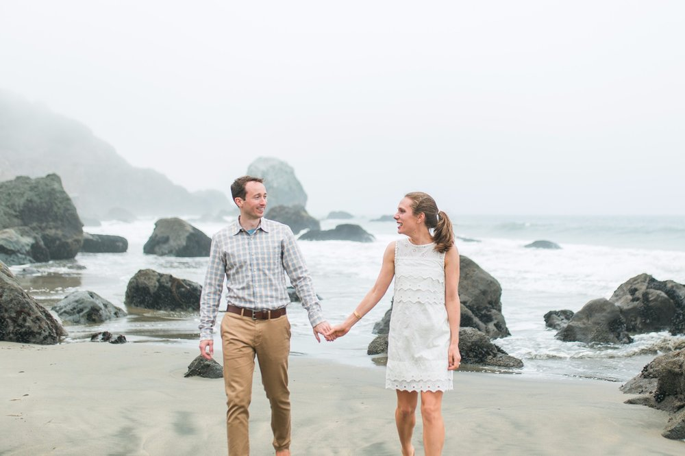 Mile Rock Beach Engagement Session - San Francisco Wedding Photographer - Foggy Engagement Photos SF (3).jpg