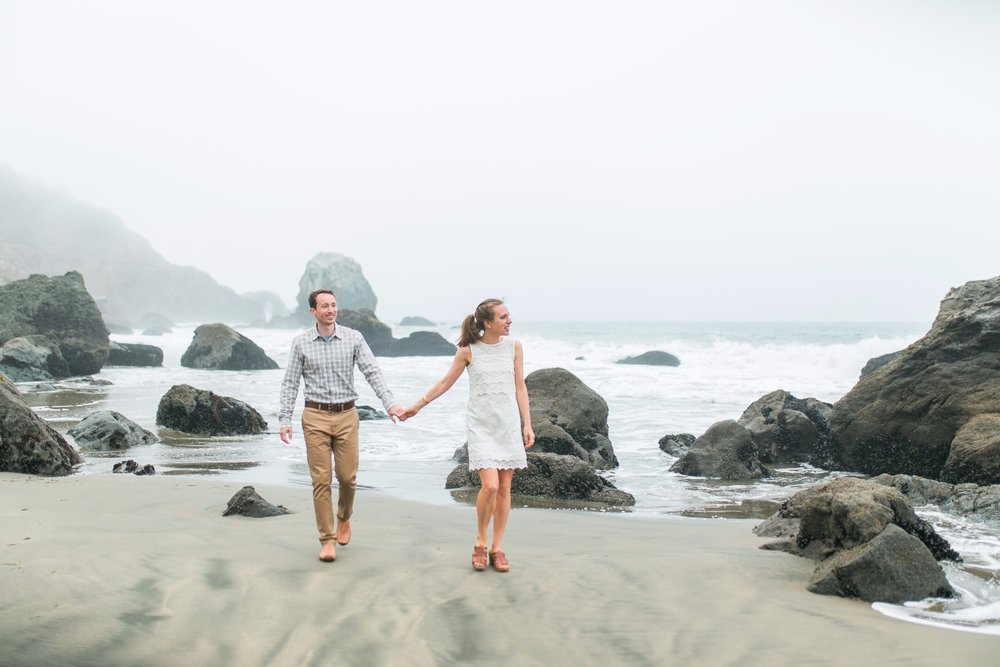 Mile Rock Beach Engagement Session - San Francisco Wedding Photographer - Foggy Engagement Photos SF (4).jpg
