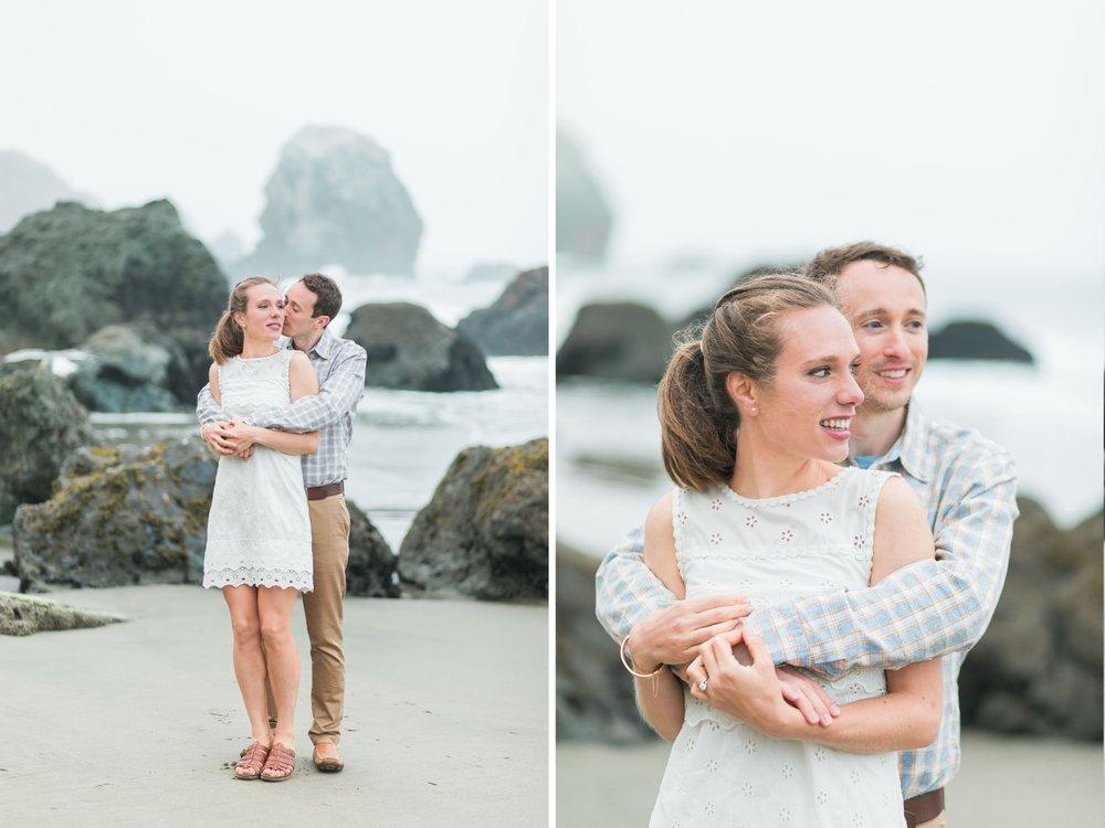 Mile Rock Beach Engagement Session - San Francisco Wedding Photographer - Foggy Engagement Photos SF (11).jpg