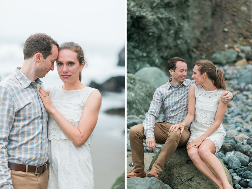 Mile Rock Beach Engagement Session - San Francisco Wedding Photographer - Foggy Engagement Photos SF (13).jpg