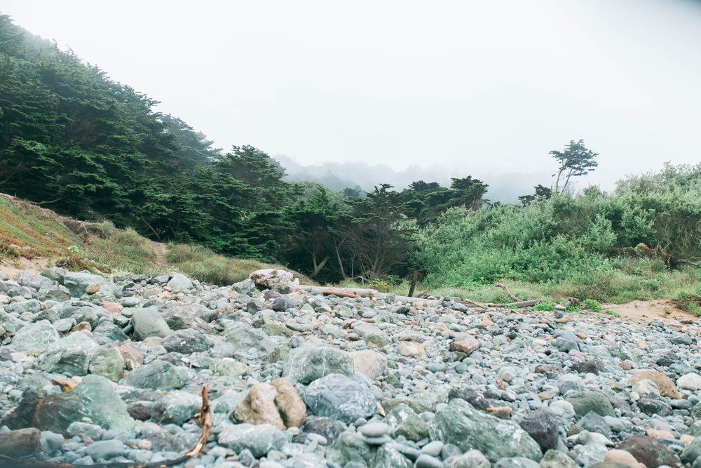 Mile Rock Beach Engagement Session - San Francisco Wedding Photographer - Foggy Engagement Photos SF (15).jpg