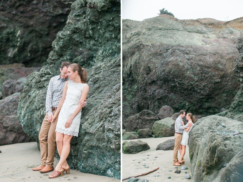 Mile Rock Beach Engagement Session - San Francisco Wedding Photographer - Foggy Engagement Photos SF (17).jpg