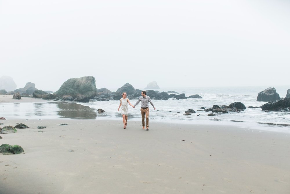 Mile Rock Beach Engagement Session - San Francisco Wedding Photographer - Foggy Engagement Photos SF (19).jpg