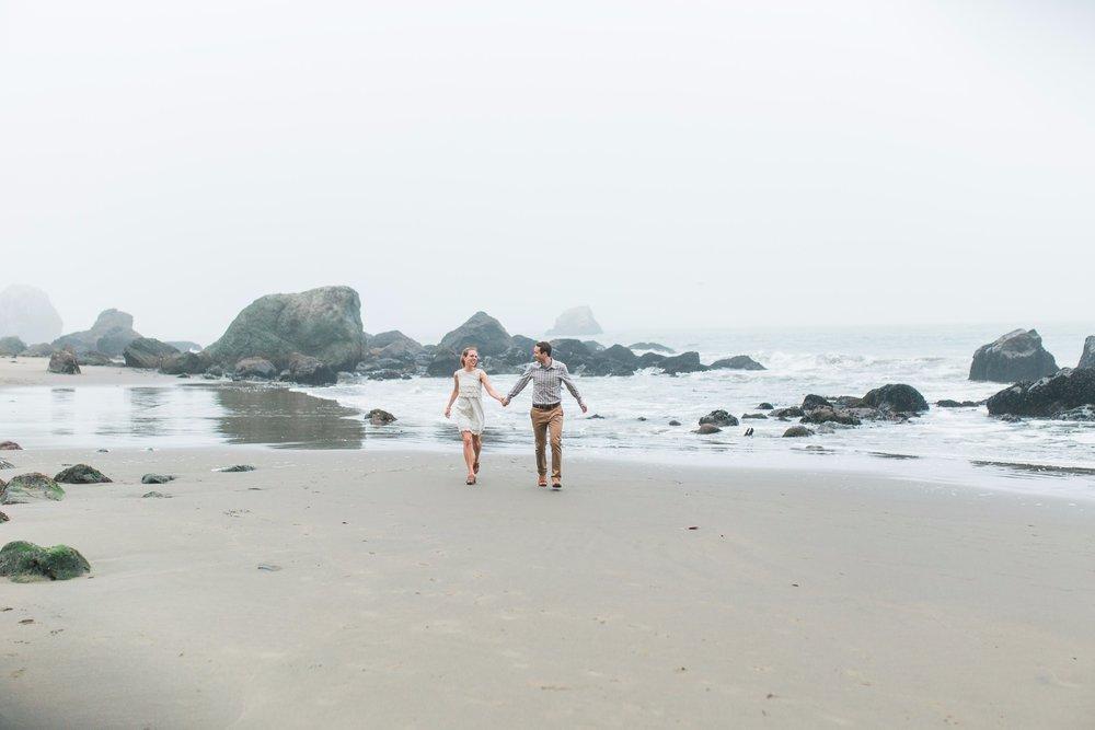 Mile Rock Beach Engagement Session - San Francisco Wedding Photographer - Foggy Engagement Photos SF (19).jpg
