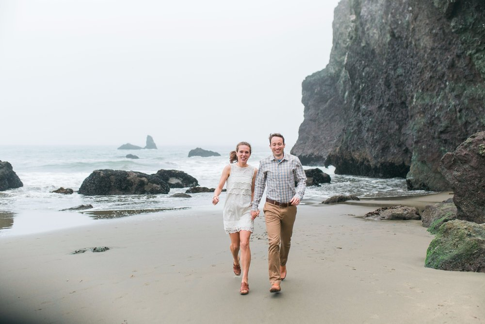 Mile Rock Beach Engagement Session - San Francisco Wedding Photographer - Foggy Engagement Photos SF (20).jpg