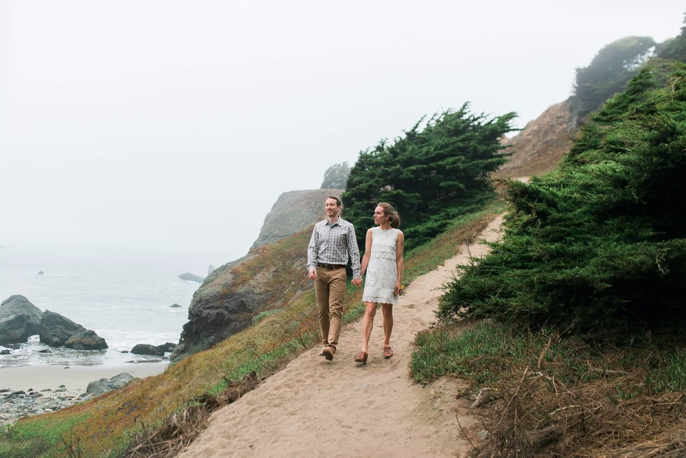 Mile Rock Beach Engagement Session - San Francisco Wedding Photographer - Foggy Engagement Photos SF (23).jpg