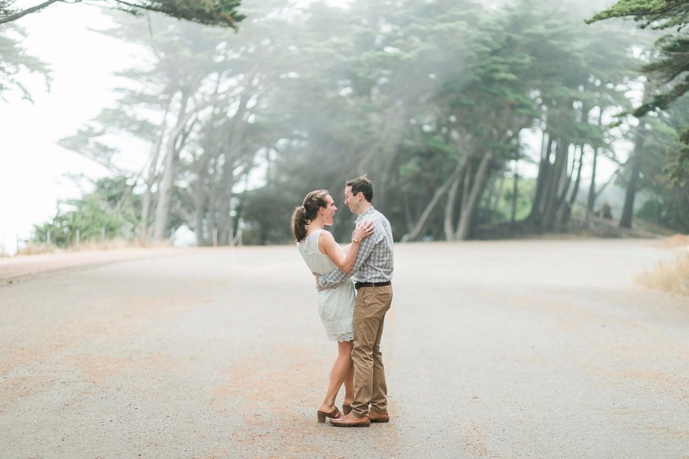 Mile Rock Beach Engagement Session - San Francisco Wedding Photographer - Foggy Engagement Photos SF (26).jpg