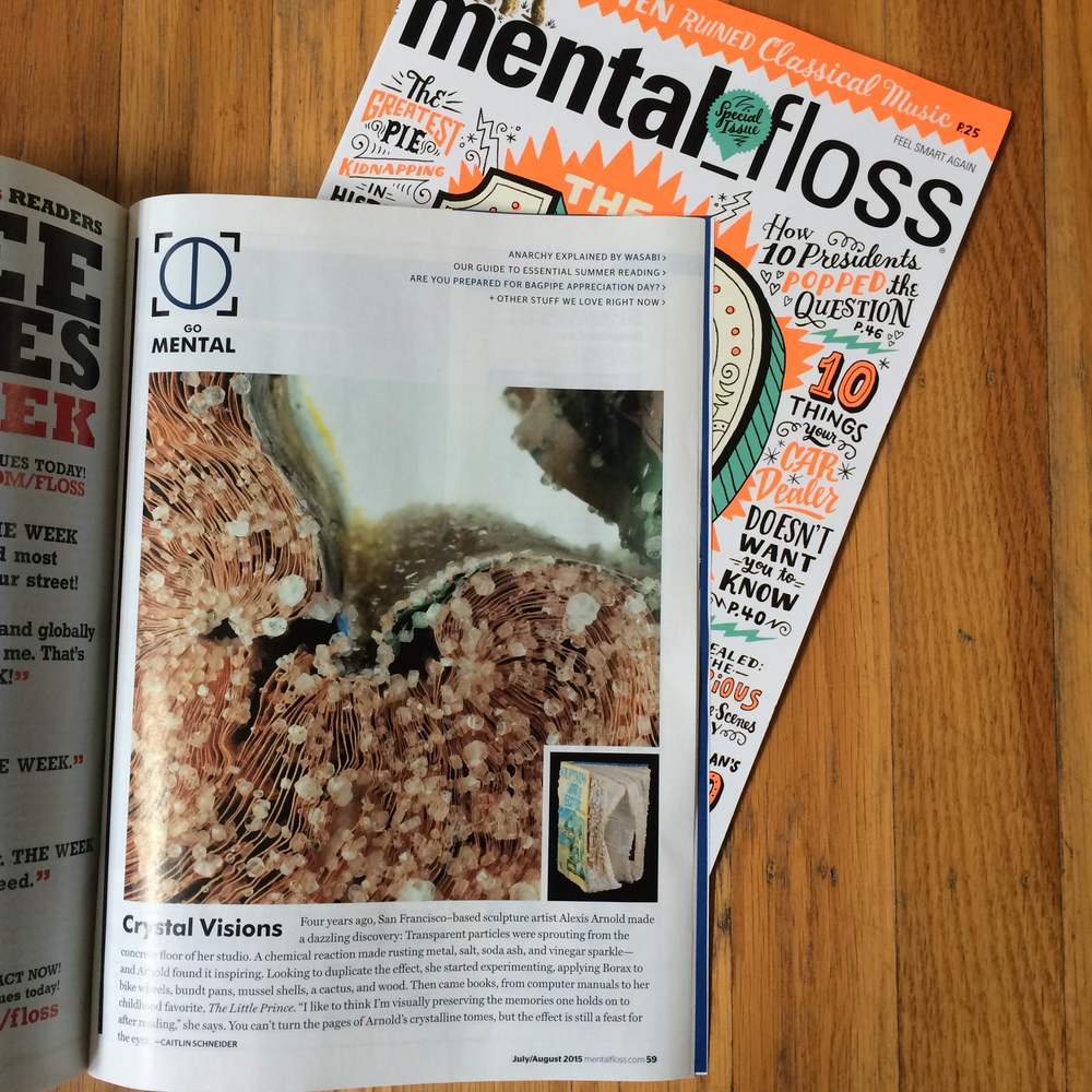 My Crystallized Book Series was featured in the July 2015 issue of mental_floss magazine! Scroll down to see more recent press highlights on the Crystallized Book series.