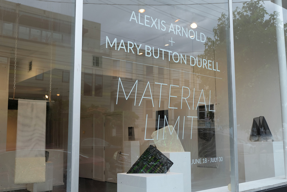 Material Limit    brings together   Bay Area-based sculptors Alexis Arnold and  Mary Button Durell  in the inaugural exhibition at  state  .  These two artists' practices center around the sustained investigation of material, and how different materials interact with space, light, and time.      Material Limit      will be on view through July 30th   at state, 1295 Alabama Street, San Francisco. Gallery hours are Tues - Sat 12 - 5 pm or by appointment.
