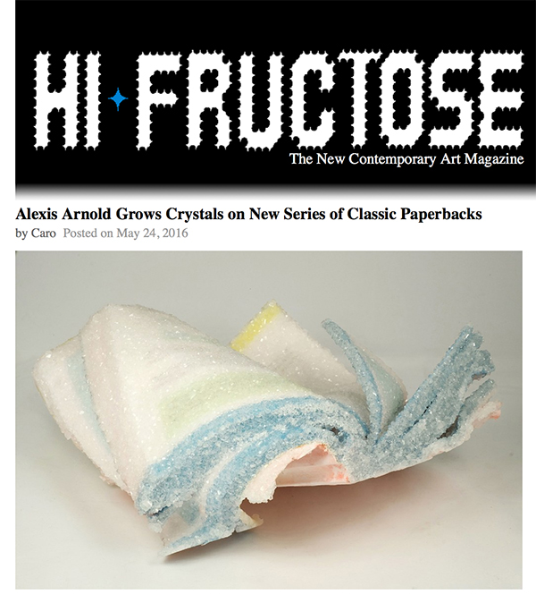 My Crystallized Book series was recently featured on Hi-Fructose and Upper Playground, as well as included in this great article about Borax on KCET and printed in Issue 29 of Uppercase Magazine.
