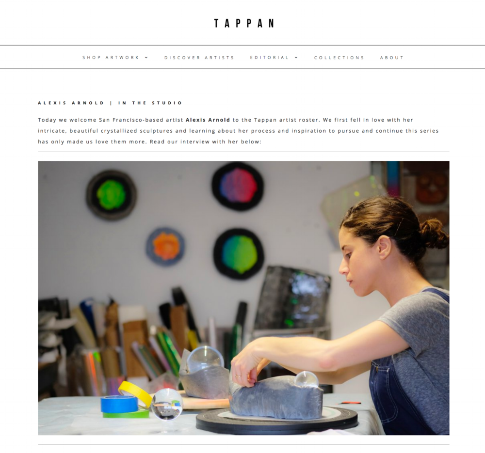 So happy to be a part of the Tappan artist roster! I'm thrilled to announce that work from my Crystallized Book Series is included on Tappan. Check out my welcome interview and all the wonderful work of the other artists available through their website at www.tappancollective.com