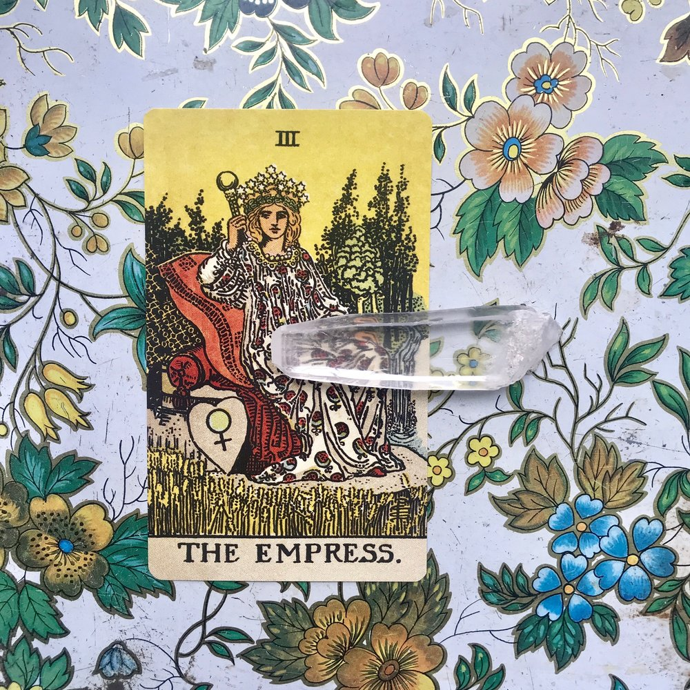 LUSH// - A mood board and playlist inspired by The Empress card of the Tarotbeauty/pleasure/fertility