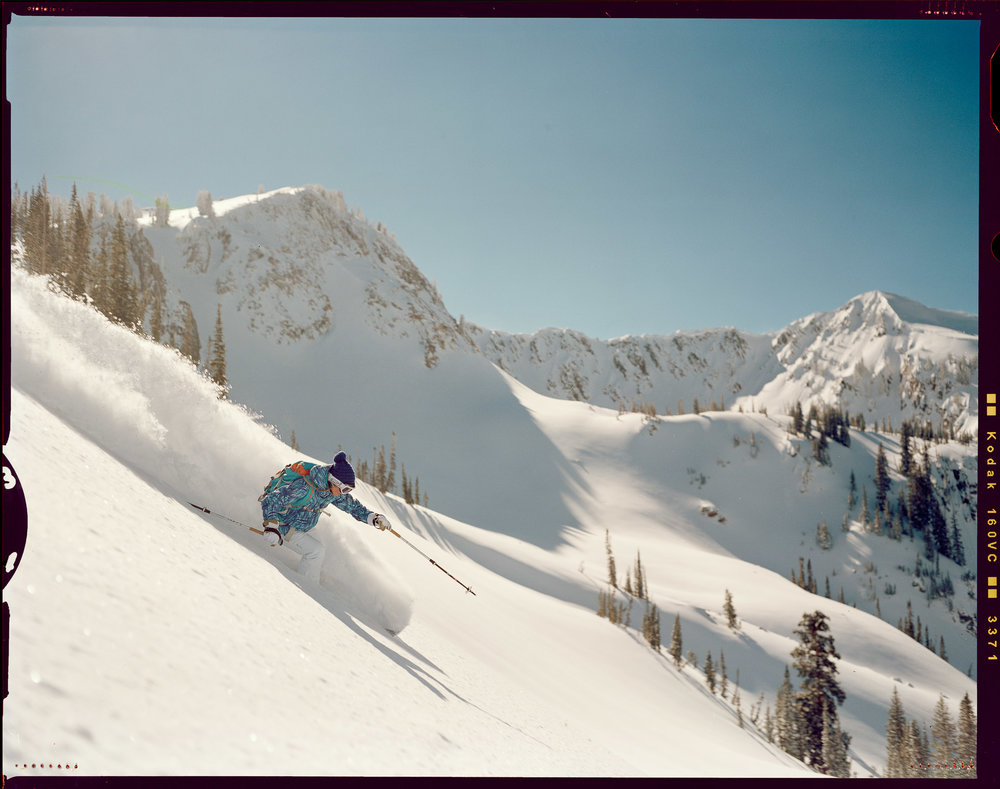 Caroline Gleich at Brighton Resort, Big Cottonwood Canyon, Wasatch Range, Utah