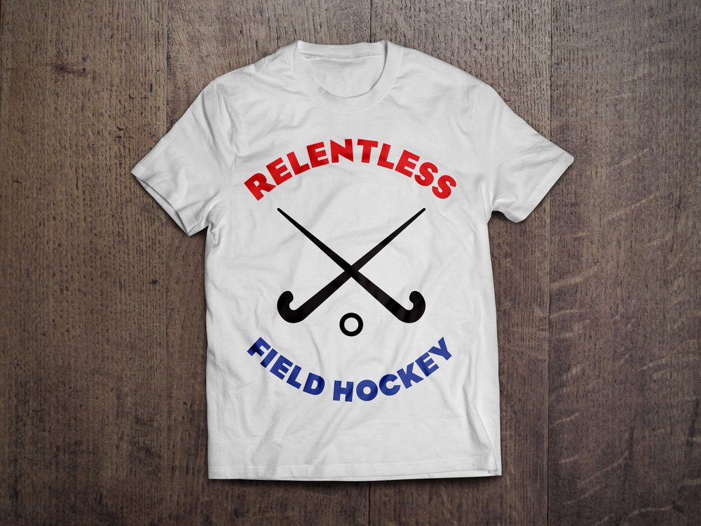 Relentless Field Hockey T-Shirt Design