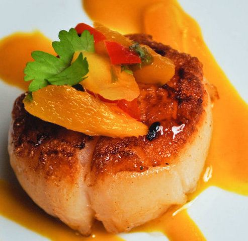 Seared Scallop with Blood Orange