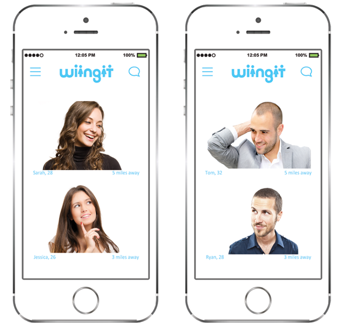 wiingit app, pick a friend and get started on your adventure to find love.