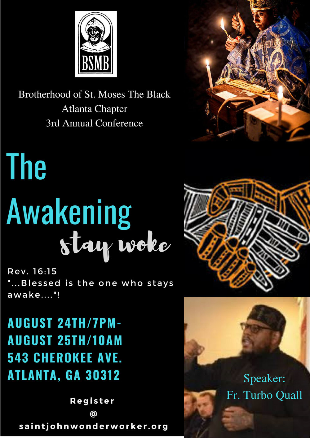Awake, O sleeper, and arise from the dead, and Christ will shine upon thee! -  Date: Friday, August 24th and Saturday, 25thTimes: Friday starting at 7:00pm and  Saturday starting at 10:00amAdmission:Free!Taste of Africa Lunch: Free!