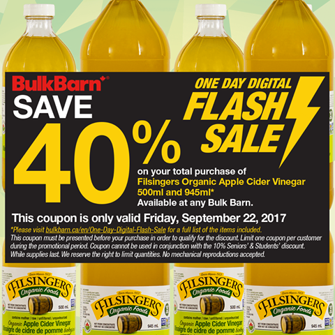 Bulk Barn Canada One Day Digital Flash Sale