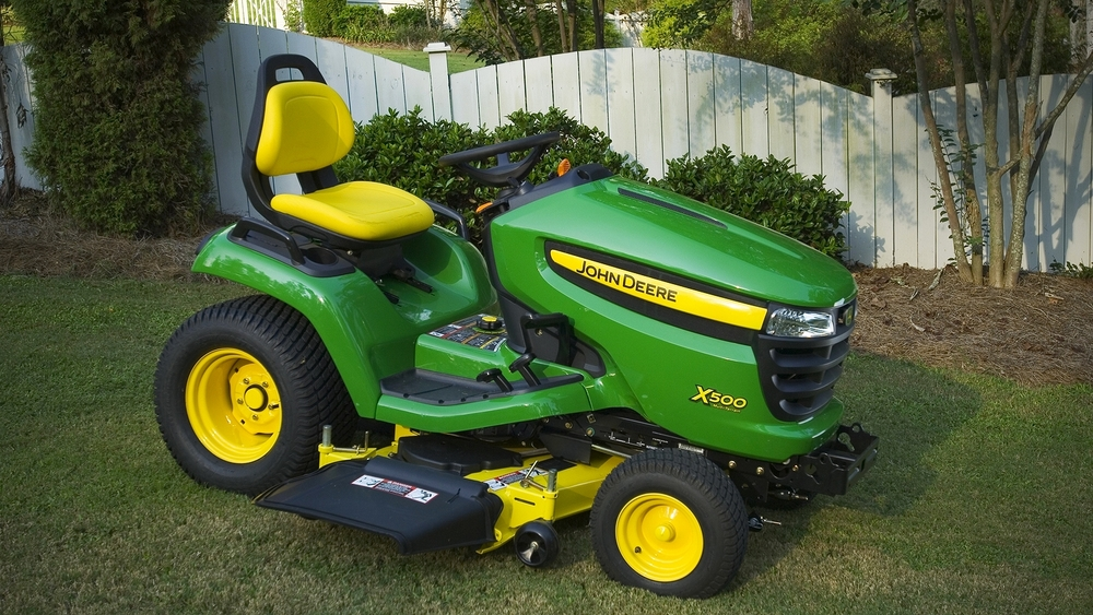 John deere x500 car interior design - Lawn mower for small spaces decor ...