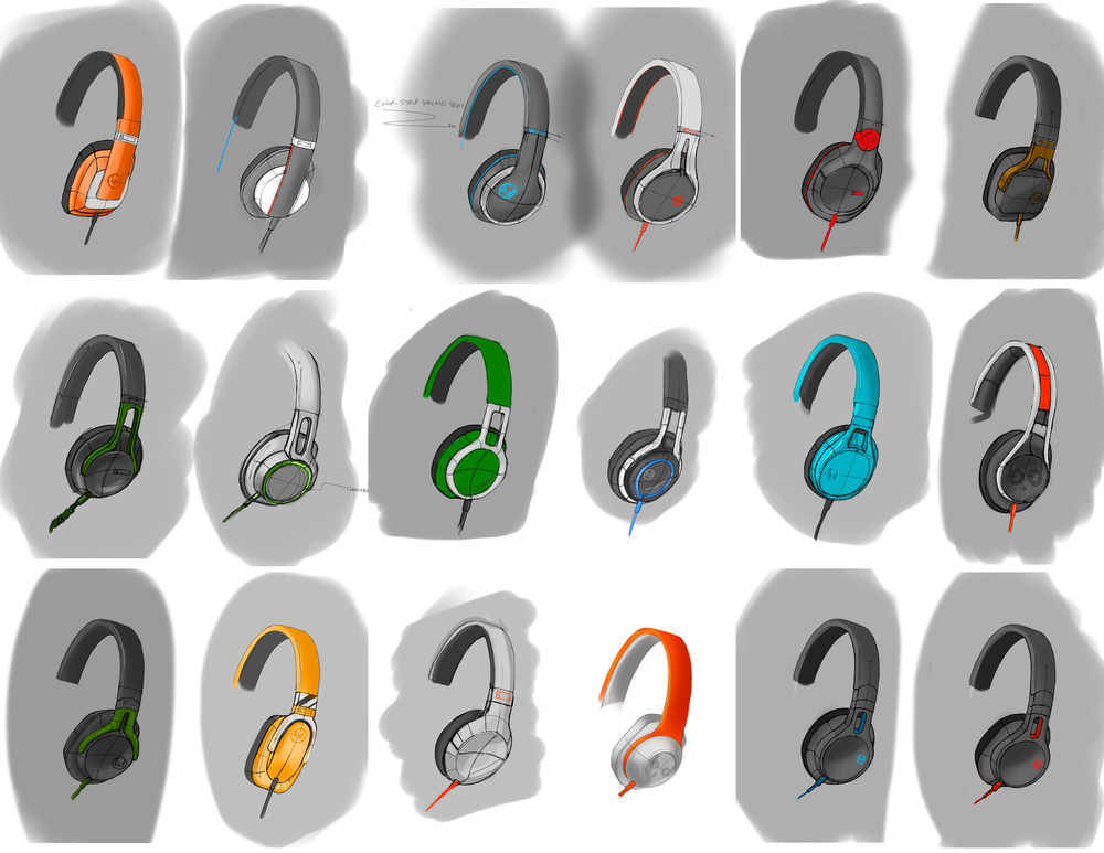 Studio Monitor Headphones sketches