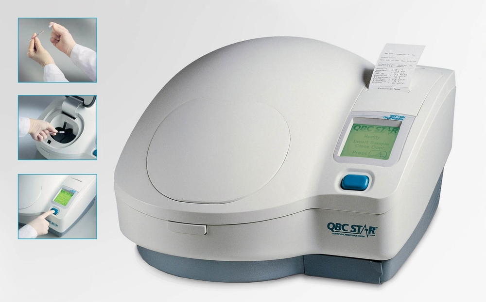 BD - QBC Star Blood Analysis System in use