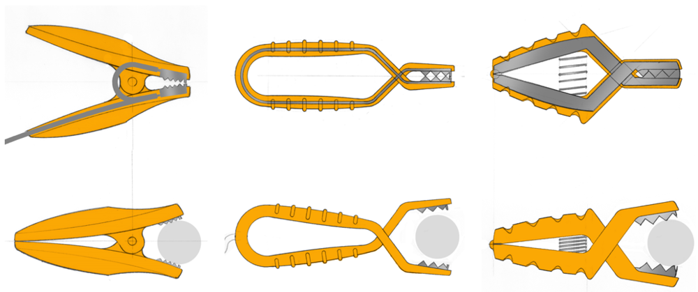 Initial concepts for the starter clamps