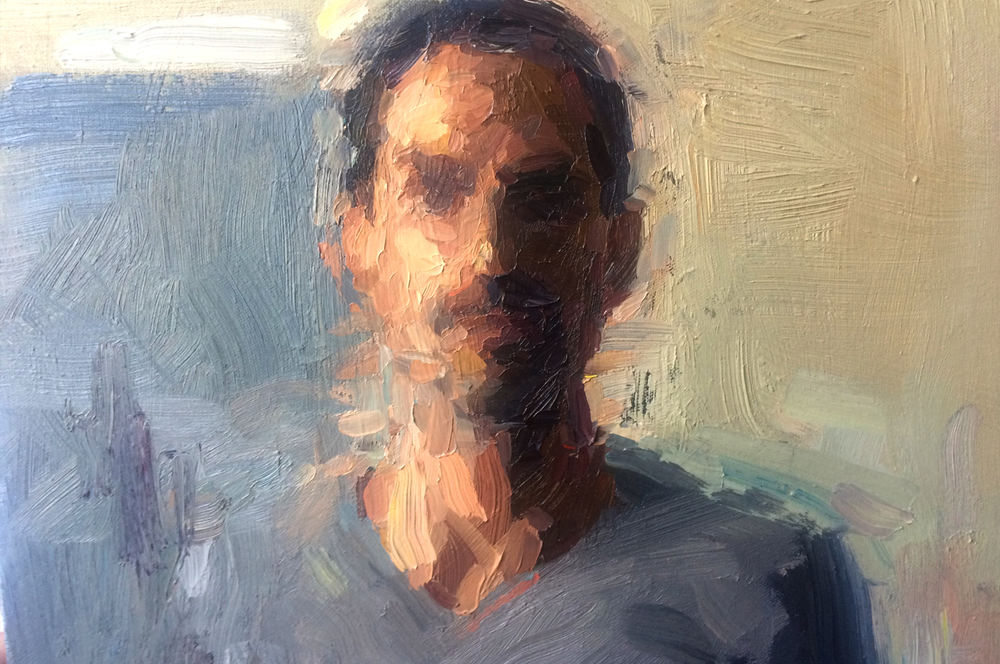 [Self Portrait in Gray - Detail 2015]