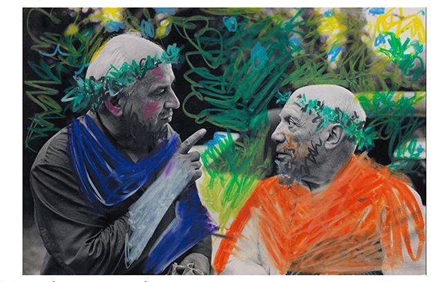 I like everything that is going here | feeling inspired. Picasso, Picasso et Jacques Couelle (1960), based on a photo by David Douglas Duncan.