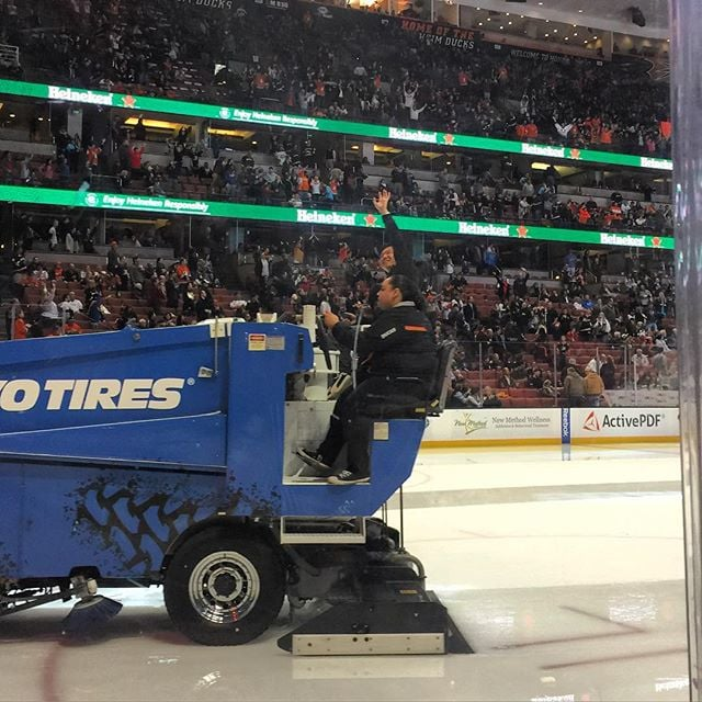 Drunk on a zamboni. #youstolemydream