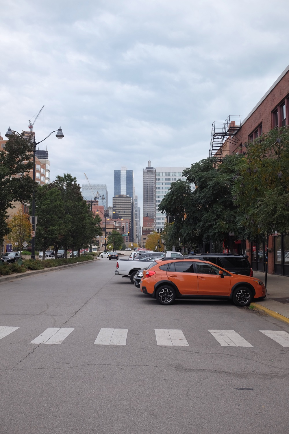 This photo may or may not be included in today's post solely because I love the orange Subaru Crosstrek.