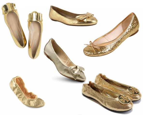 Sapatilhas Douradas vários modelos.