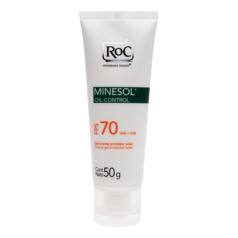 Protetor solar facial Minesol da ROC FPS 70