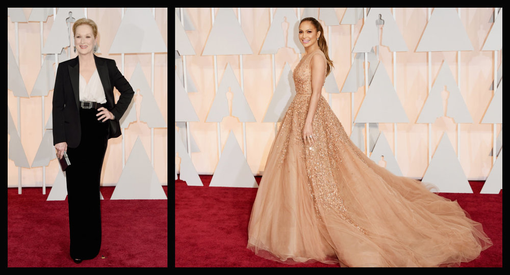 A elegância infinita e madura de Meryl Streep e o vestido  bapho  da J.Lo