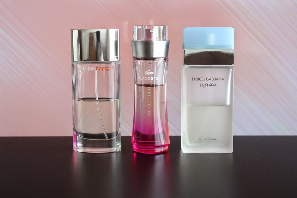 Meus perfumes favoritos - Happy da Clinique - Touch Of Pink da Lacoste e Light Blue da Dolce Gabbana - Foto por Bruno França
