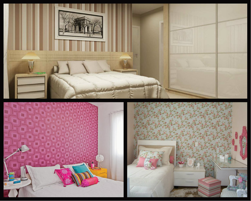 Papel de parede para transformar dormitórios e deixa-los mais aconchegantes.