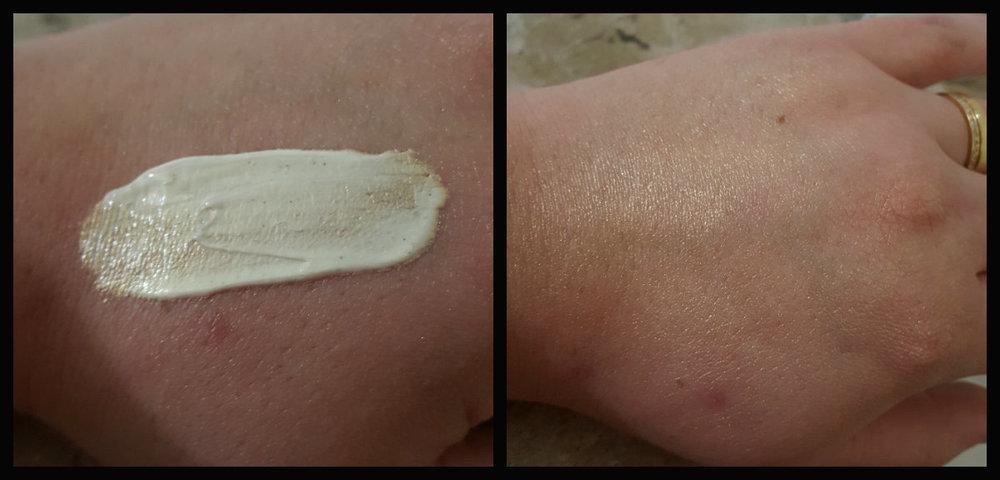 Luminous Body Crème concentrado e esfumado na pele da mão - Foto por Nana Bastos