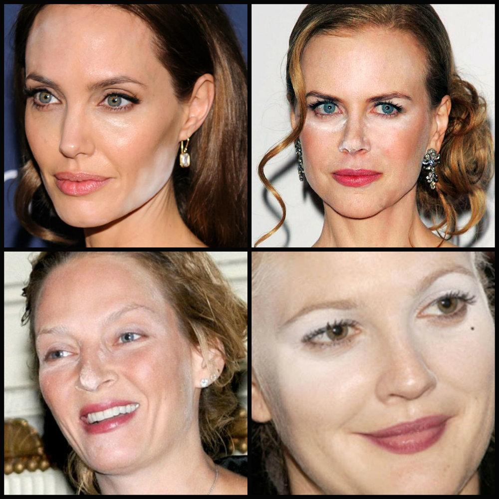 Nem a Jolie escapou da maldição do pó translucido!