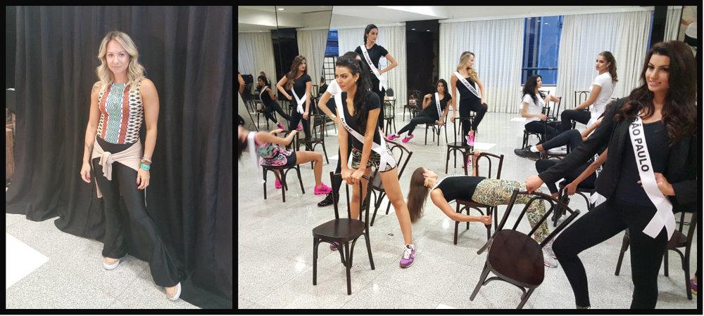 Paulinha Bonadio e as meninas na coreografia!