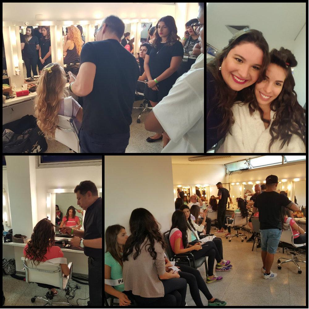 Movimentação no camarim e uma selfie básica com a linda Miss Ceará - Arianne Miranda.
