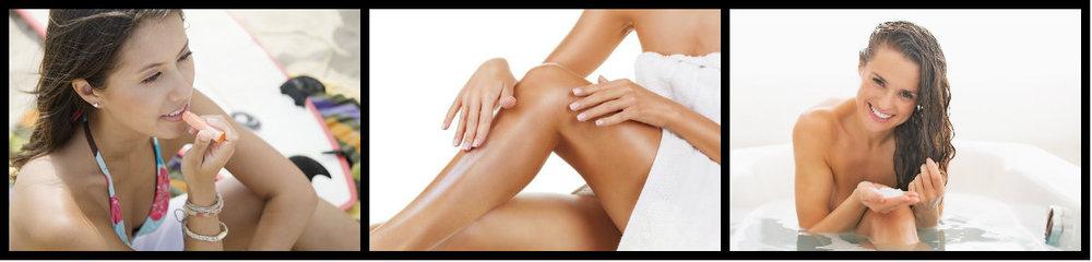 Lábios, pele e cabelos! Proteção total contra os raios solares e o ressecamento.