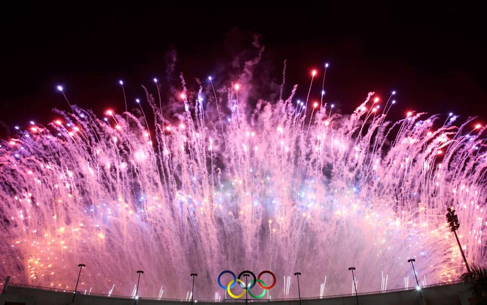 Fogos na Abertura da Rio 2016