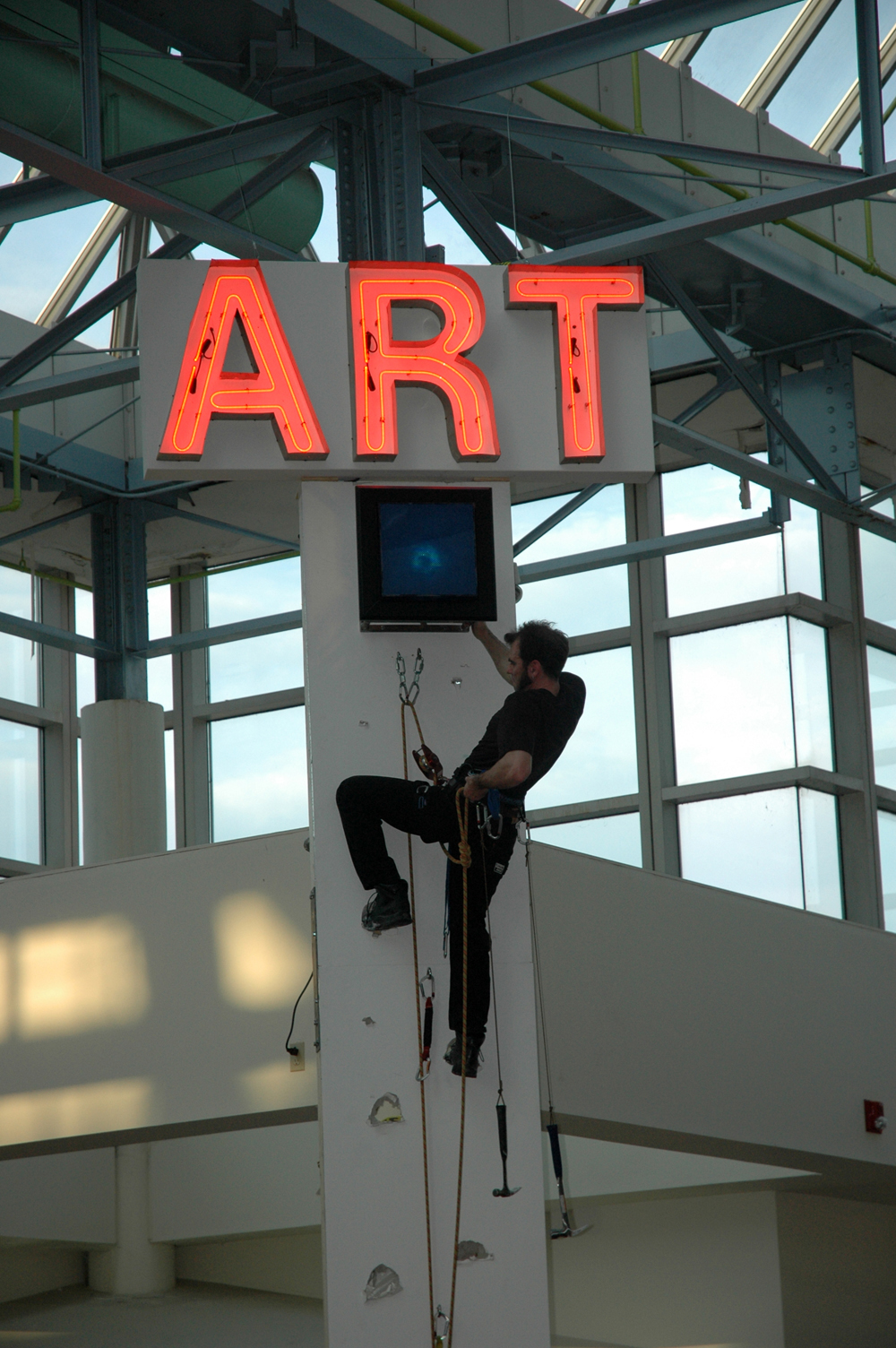 Art Climbing - Art sign and me.JPG