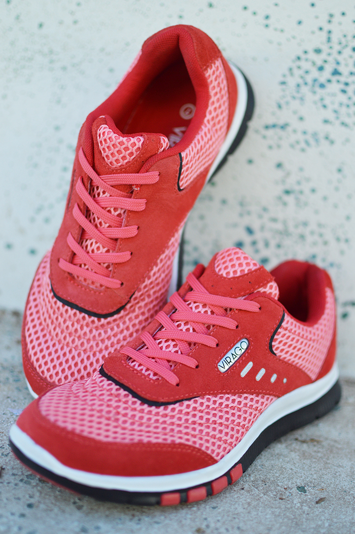 Women's - STYLE 1 - Coral Mesh & Suede