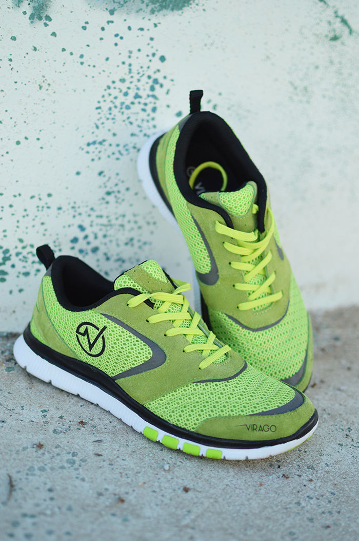 Women's - STYLE 3 - Green Mesh & Suede