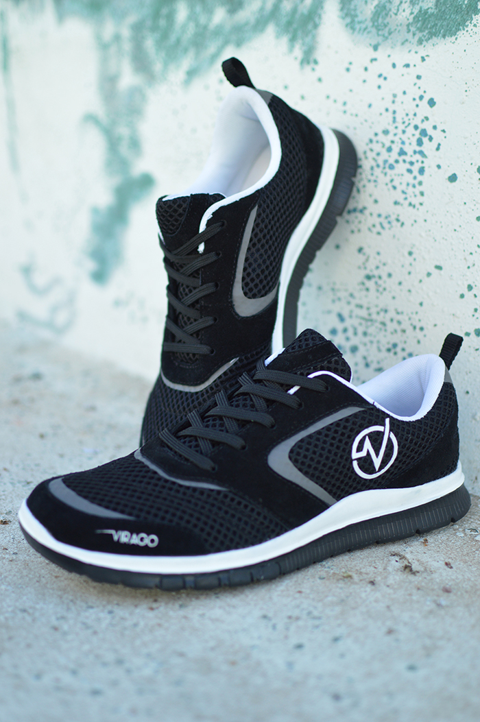 Men & Women - STYLE 3 - Black/White Mesh & Suede  * Also available in Blue/Grey for Men