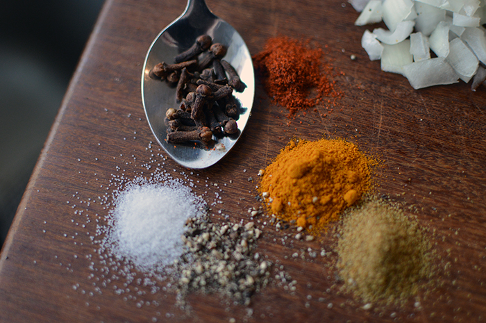 If you don't have curry powder on hand, no problem. Hopefully you have these essential thai spices on hand: salt, pepper, coriander, cumin, turmeric, whole cloves and cayenne pepper.