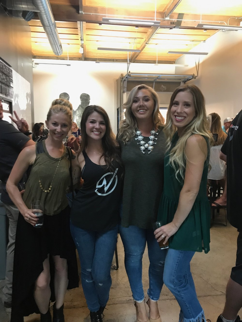 Allie Hobson of Barefood Nutrition, Brittney - founder of Virago Fitness, Chanel of Dames Collective, Megan of Virago Fitness