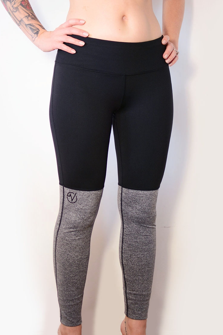 Women's Two Tone Ankle Yoga Pants - SKU: W1028MIN QTY 15 / Any Color - Any Size$27.00-$31.50COLORS: Black/GreySizes: XS, S, M, L, XL, 2XL